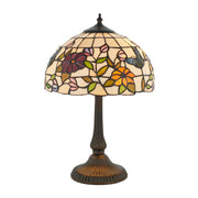 Interiors 1900 Butterfly 2 Light Tiffany Table Lamp - 63998