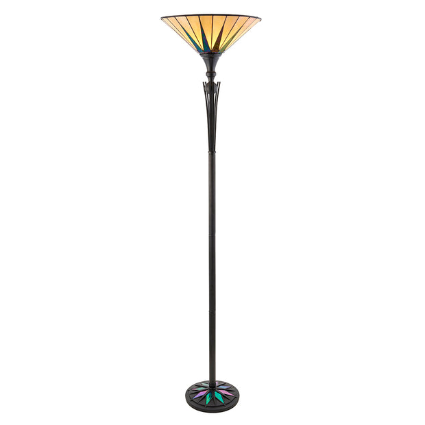 Interiors 1900 Dark Star 1 Light Tiffany Floor Lamp - 64042