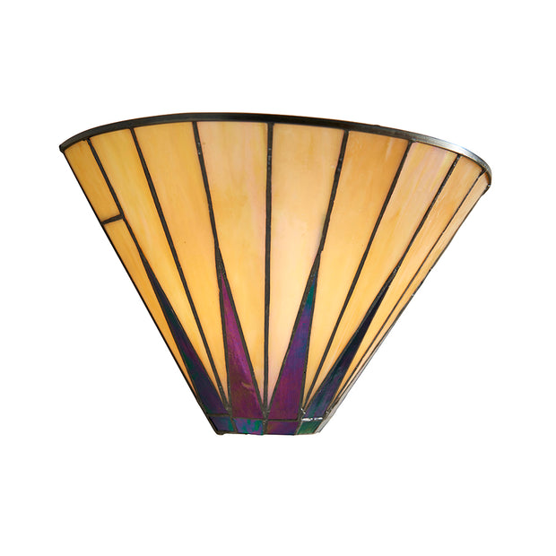 Interiors 1900 Dark Star 1 Light Tiffany Wall Light - 64046
