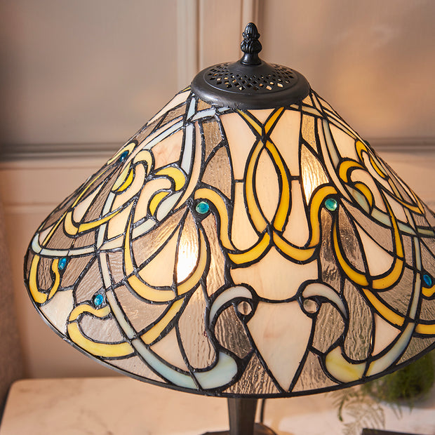 Interiors 1900 Dauphine 2 Light Tiffany Table Lamp - 64055