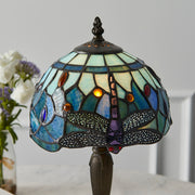 Interiors 1900 Dragonfly Blue 1 Light Tiffany Table Lamp - 64088