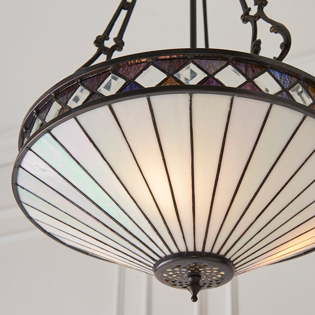 Interiors 1900 Fargo Tiffany 3 Light Pendant - 64146