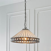 Interiors 1900 Fargo Single Tiffany Pendant Light - 64147