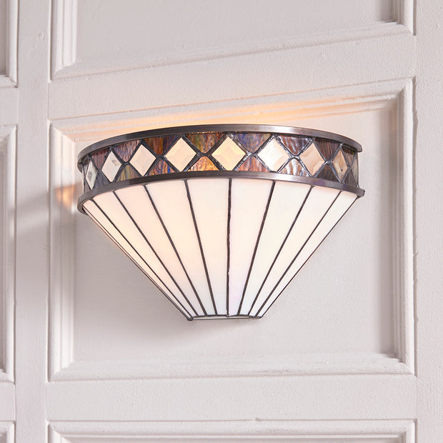 Interiors 1900 Fargo Tiffany Wall Light - 64149