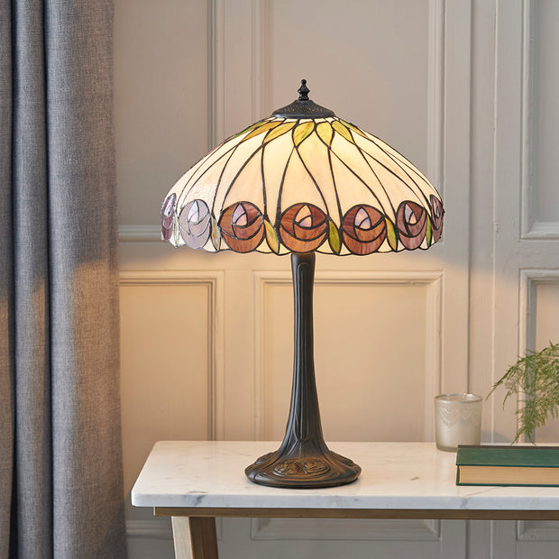 Interiors 1900 Hutchinson 1 Light Tiffany Table Lamp - 64177