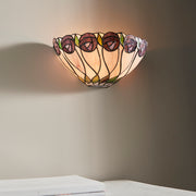 Interiors 1900 Hutchinson 1 Light Tiffany Wall Light - 64178