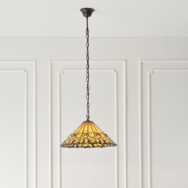 Interiors 1900 Jamelia Single Tiffany Pendant Light - 64193