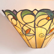 Interiors 1900 Jamelia 1 Light Tiffany Wall Lamp - 64198