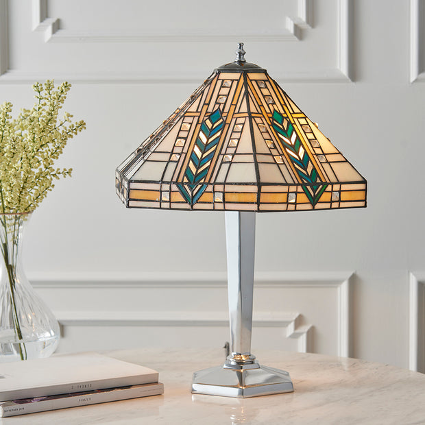 Interiors 1900 Lloyd 2 Light Tiffany Table Lamp - 64241
