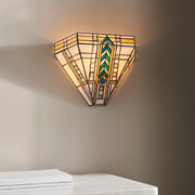 Interiors 1900 Lloyd 1 Light Tiffany Wall Light - 64243