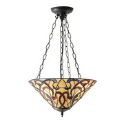 Interiors 1900 Ruban 3 Light Tiffany Pendant Light - 64319