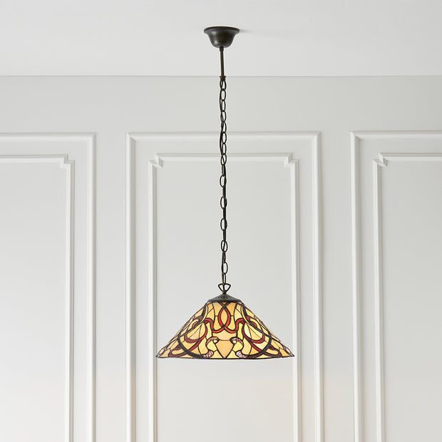 Interiors 1900 Ruban Single Tiffany Pendant Light - 64320