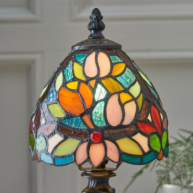 Interiors 1900 Sylvette 1 Light Tiffany Table Lamp
