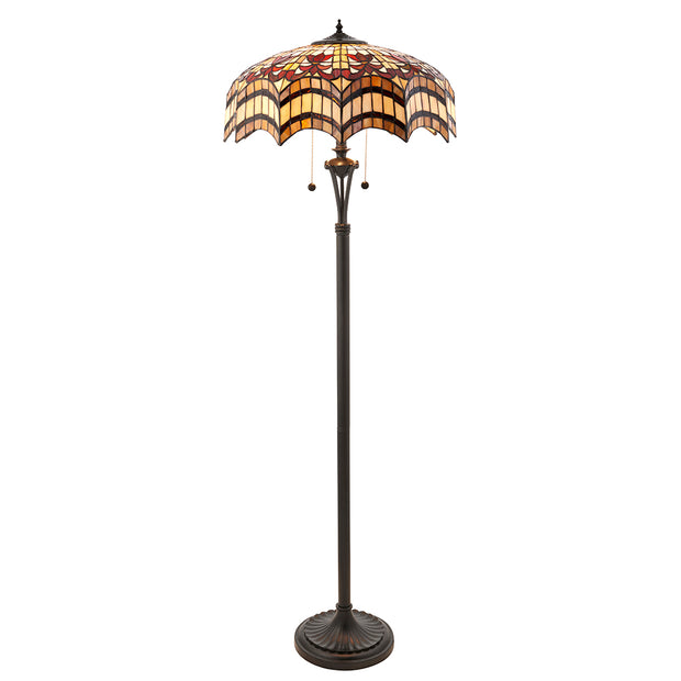 Interiors 1900 Vesta 2 Light Tiffany Floor Lamp - 64373
