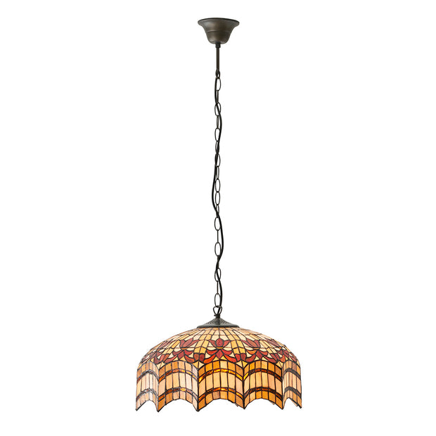 Interiors 1900 Vesta 2 Light Tiffany Pendant Light - 64375