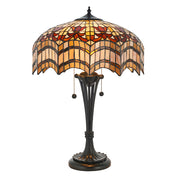 Interiors 1900 Vesta 2 Light Tiffany Table Lamp - 64377