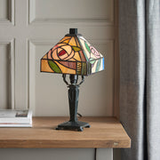 Interiors 1900 Willow 1 Light Tiffany Table Lamp - 64388