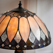 Interiors 1900 Brooklyn 2 Light Tiffany Table Lamp - 70366