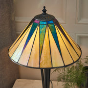 Interiors 1900 Dark Star 1 Light Tiffany Table Lamp - 70367