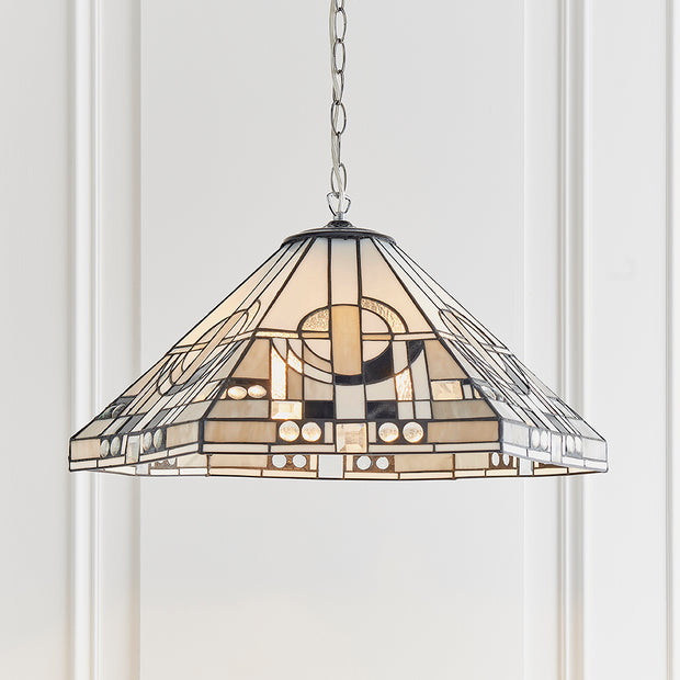 Interiors 1900 Metropolitan 3 Light Tiffany Pendant - 70895