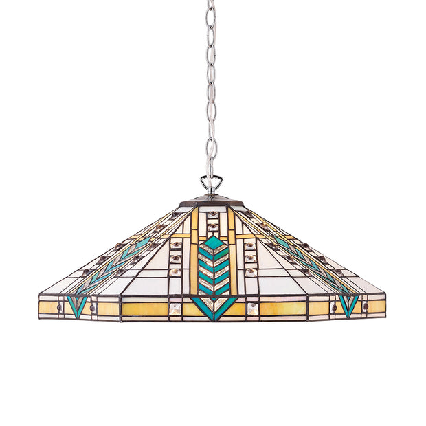 Interiors 1900 Lloyd 3 Light Tiffany Pendant - 707903