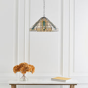 Interiors 1900 Lloyd Single Tiffany Pendant Light - 70904