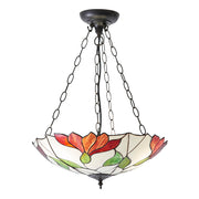 Interiors 1900 Botanica 3 Light Tiffany Pendant - 70946