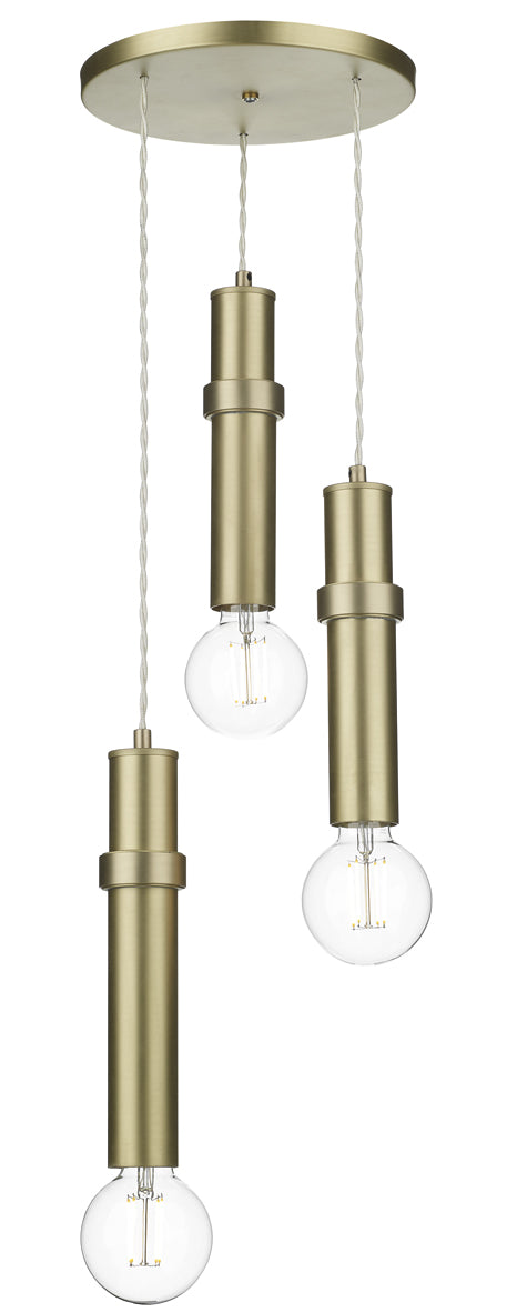 David Hunt Adling ADL0340 Butter Brass 3 Light Pendant