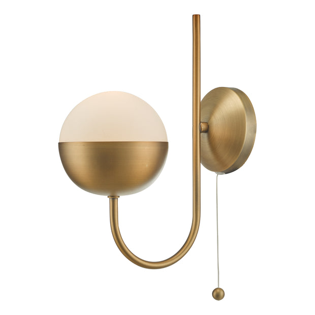 Dar Andre AND0742 Aged Brass Single Wall Light