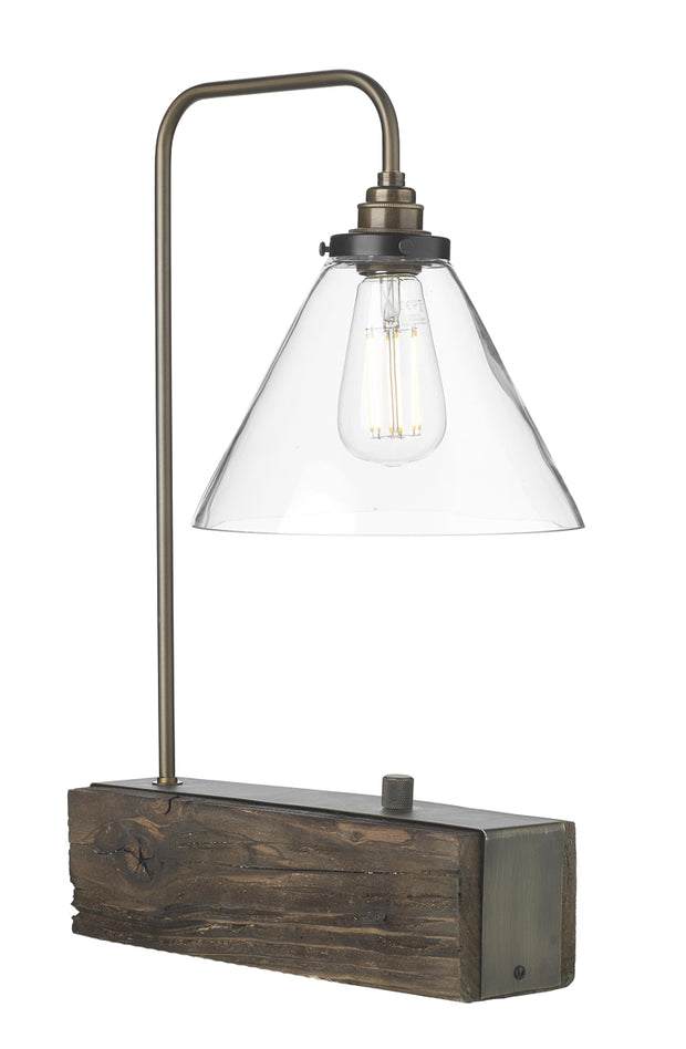 David Hunt Aspen ASP4229 Wood Effect 1 Light Table Lamp