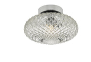Dar Bibiana BIB0708 Small Single Wall/Flush Ceiling Light In Polished Chrome Finish with Clear Glass Shade