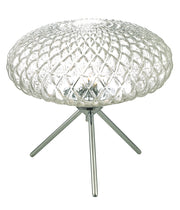 Dar Bibiana BIB4308 Large Table Lamp In Polished Chrome Finish With Clear Glass Shade