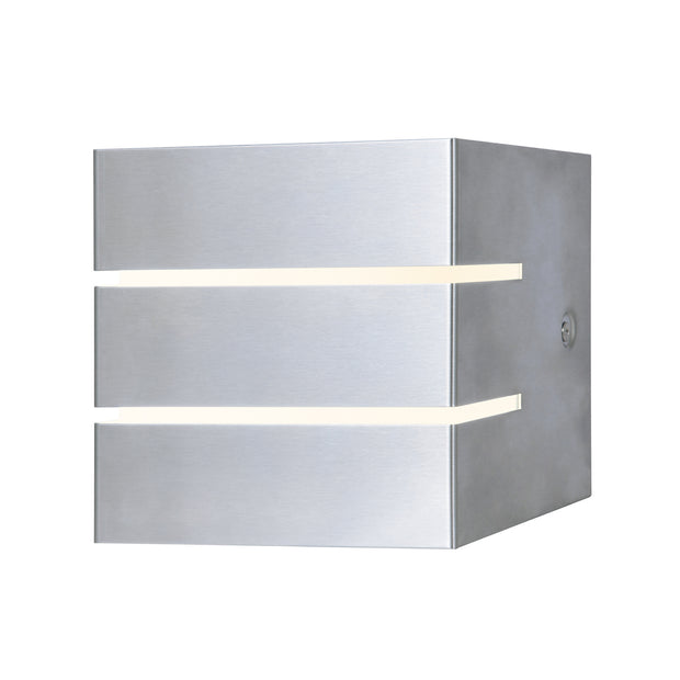 Dar Cacheta CAC2139 Exterior 9W LED Wall Light In Stainless Steel & Opal Finish - IP44