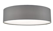 Dar Cierro CIE5039 4 Light Flush Ceiling Light In Grey With Frosted Diffuser