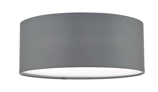 Dar Cierro CIE5239 3 Light Flush Ceiling Light In Grey With Frosted Diffuser