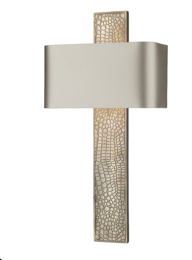 David Hunt Croc CRO0700 Bronze Single Wall Light Complete With Bespoke Shade (Specify Colour)