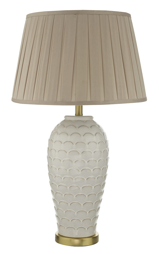 Dar Dayna DAY4233 Table Lamp In Cream & Brushed Gold Finish Base Only