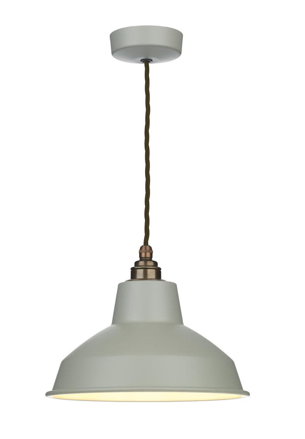 David Hunt Dexter DEX0139 Powder Grey Single Pendant