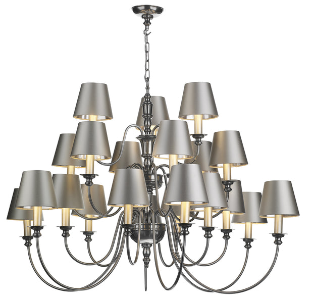 David Hunt Dickens DIC2167 Large Pewter 3 Tier 21 Light Chandelier - Fitting Only