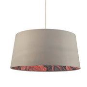 Dar Dolores DOL6539 Easy Fit Pendant Faux Silk Grey