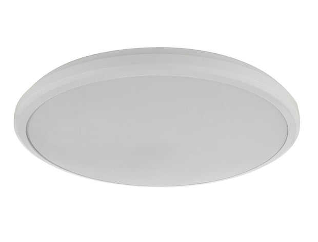 Dar Emmett EMM522 18W LED Medium Flush Ceiling Light In White Acrylic - IP44