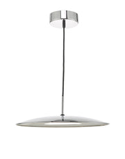 Dar Enoch ENO0150 18W LED Pendant In Polished Chrome Finish