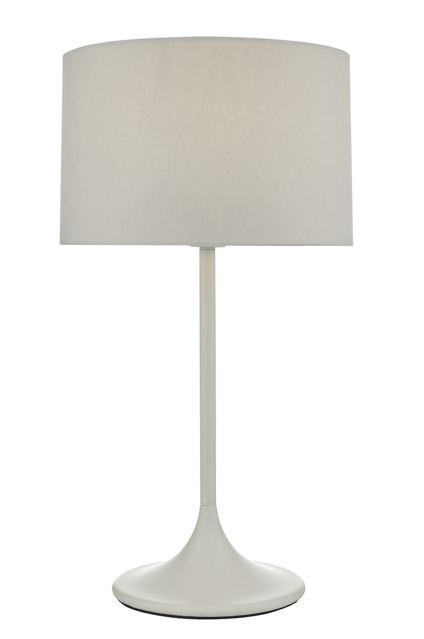 Dar Funchal FUN4239 Table Lamp In Matt Grey Finish Complete With Grey Shade
