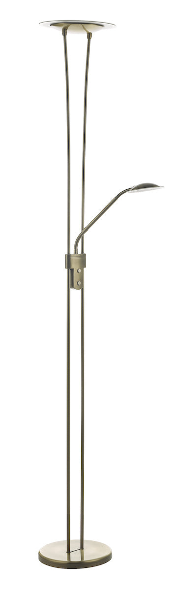 Dar Hahn HAH4975 Mother And Child LED Floor Lamp In Antique Brass Finish