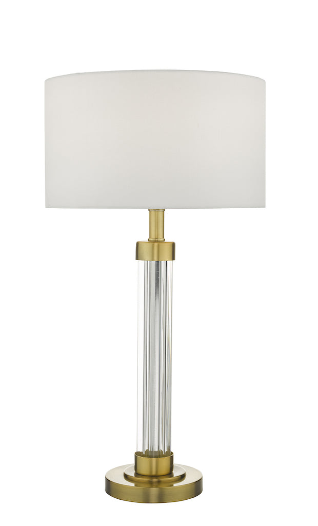 Dar Heitor HEI4263 Table Lamp In Polished Bronze & Glass Finish Base Only