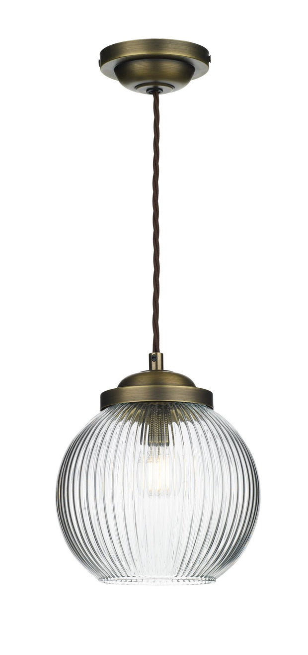 David Hunt Henley HEN0175 Antique Brass Single Pendant Light
