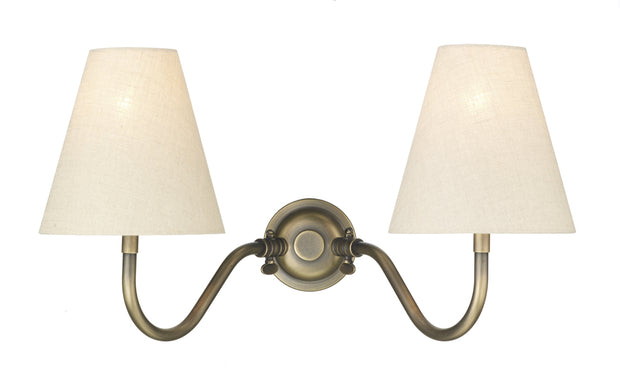 David Hunt Hicks HIC0975 Antique Brass Double Wall Light - Fitting Only