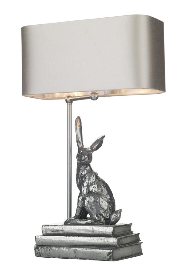 David Hunt Hopper HOP4267 Pewter Table Lamp - Base Only