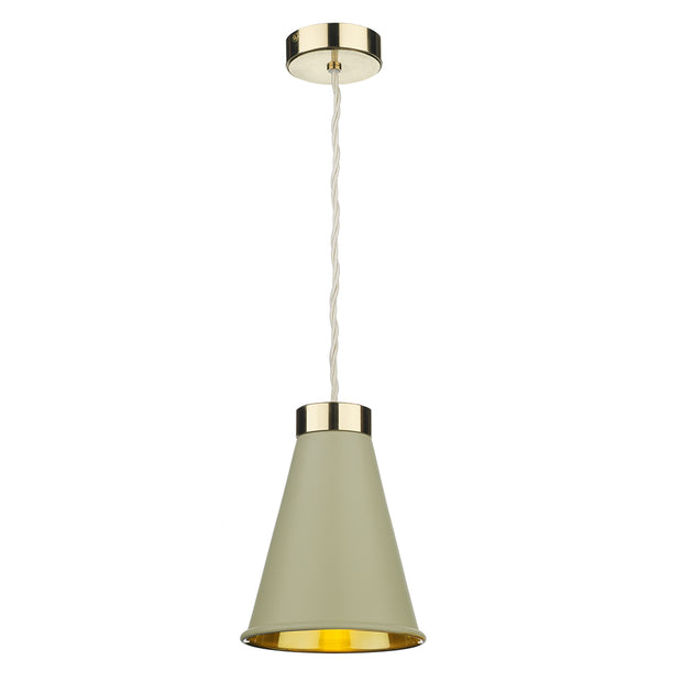 David Hunt Hyde HYD012 Pebble Single Pendant Complete With Brass Inner
