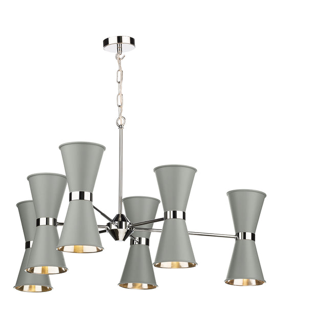 David Hunt Hyde HYD1239C Pebble 12 Light Pendant Complete With Chrome Inners